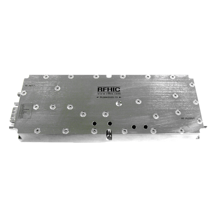 RUM43020-10, 35dB, 2000-6000MHz, GaN Wideband Amplifier - RFHIC Corporation